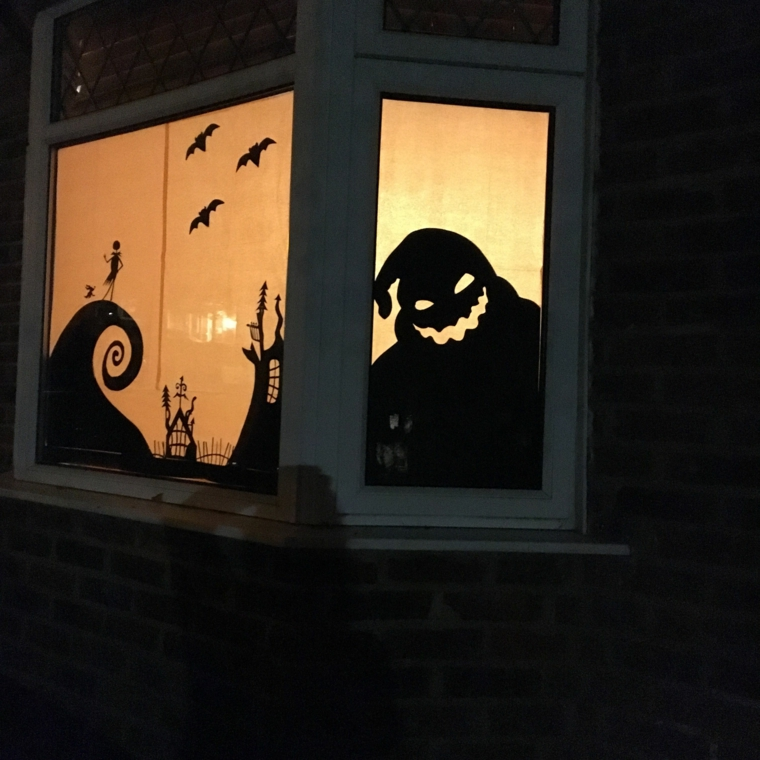 idéias para halloween-decorating-windows
