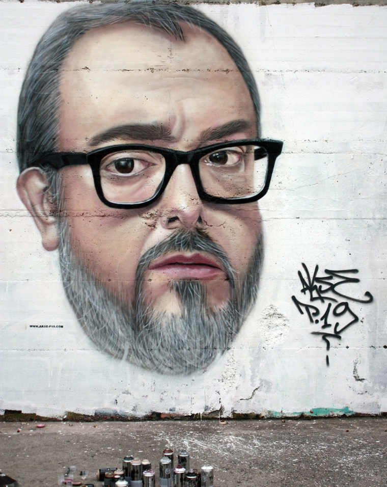retrato graffiti