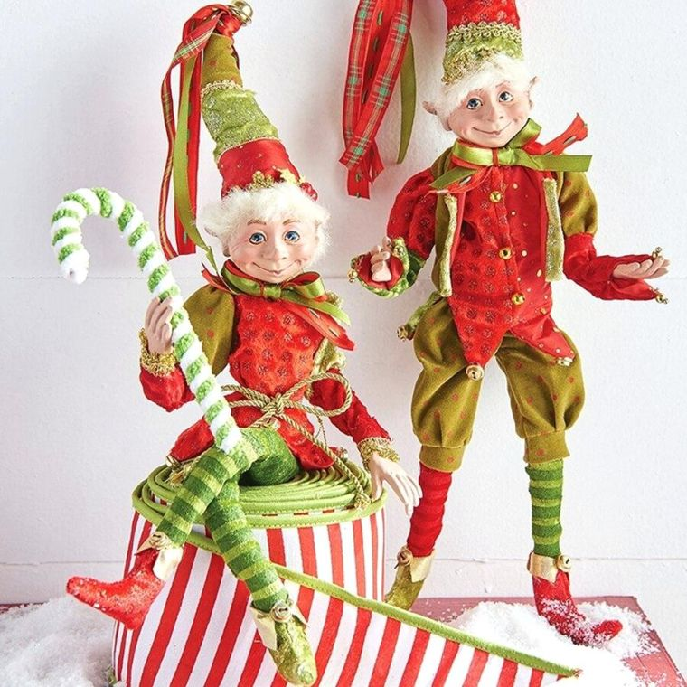 Colorful Christmas Elves