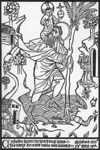 San Cristobal Woodcut 1423