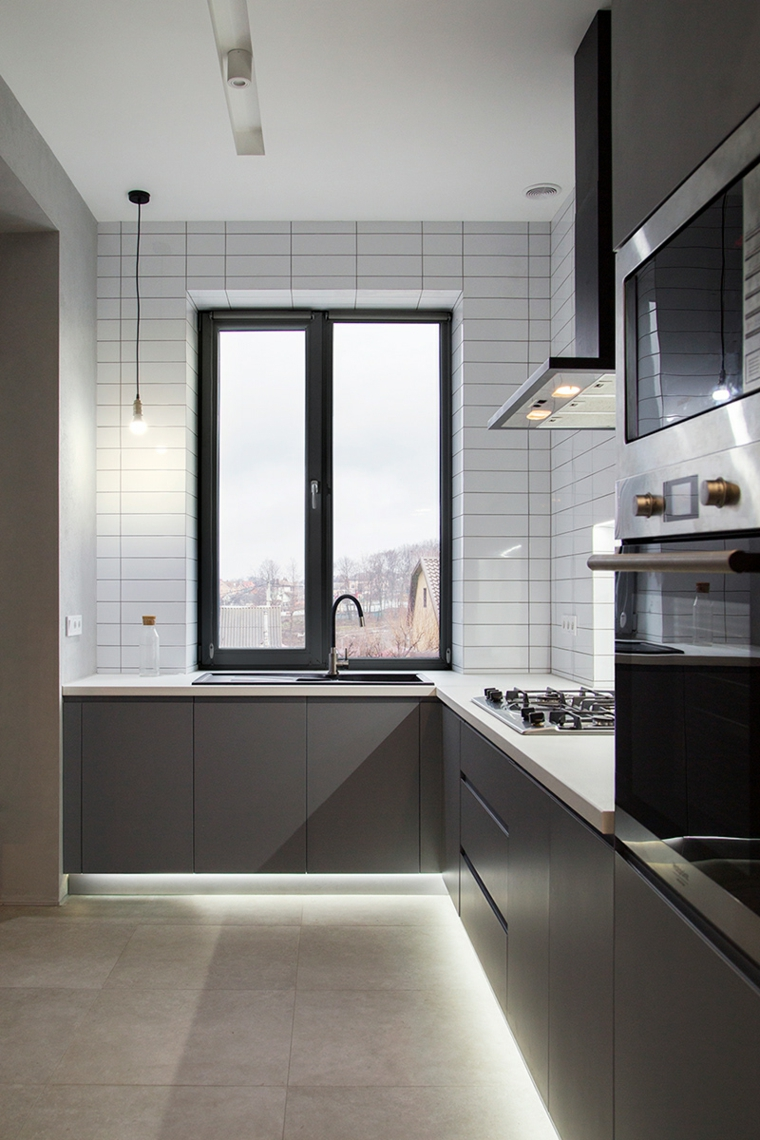 design-cozinha -gris-ideas-small-spaces