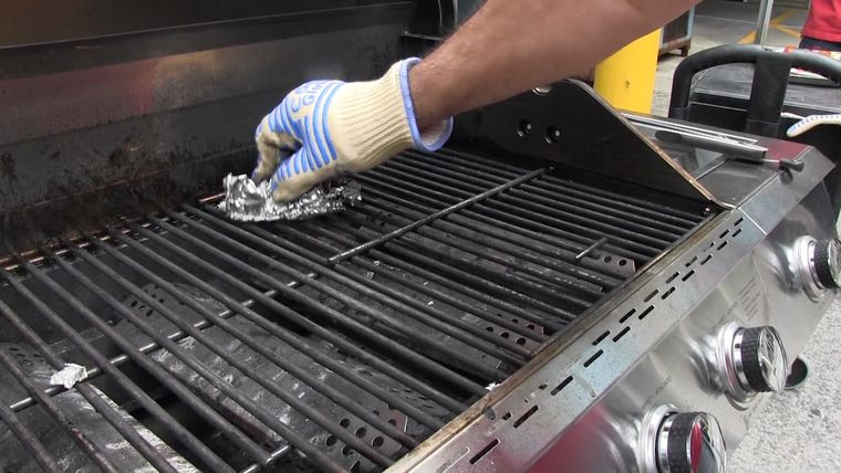 the trick foil grill