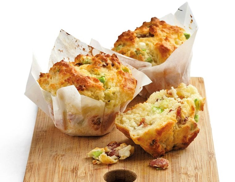muffins de piquenique com bacon