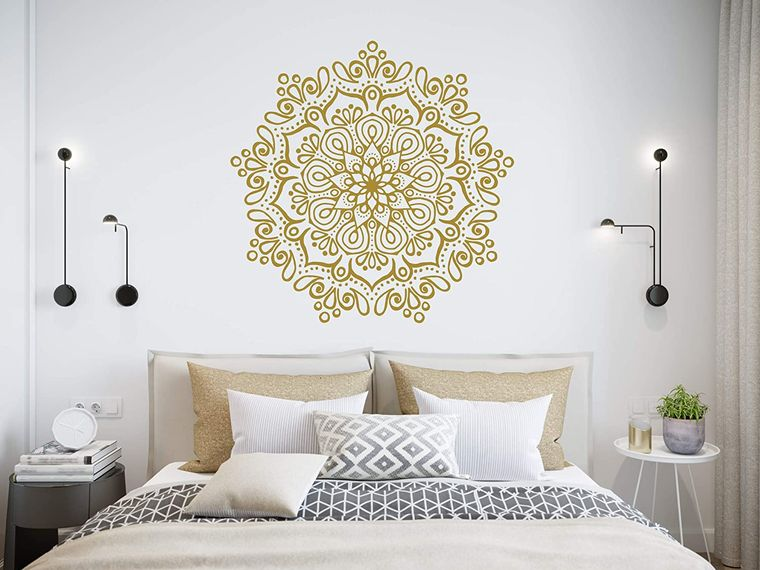 bedroom mandala decor