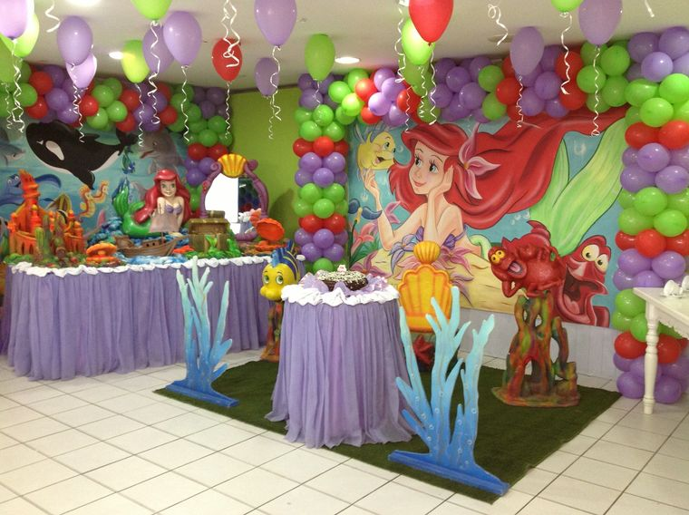princess ariel birthday decoration