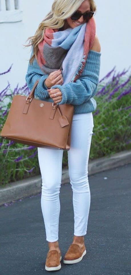 Look with jeans skinny e maxi suéter para mulheres