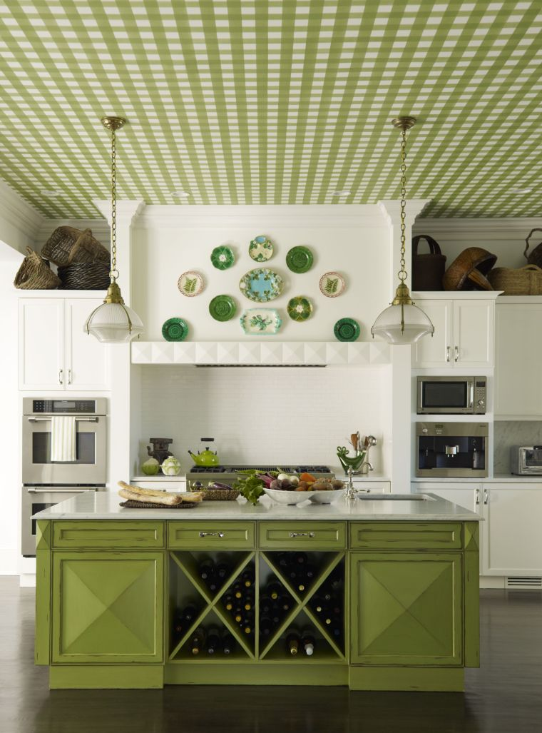 designs-for-kitchens-ideias-cor green