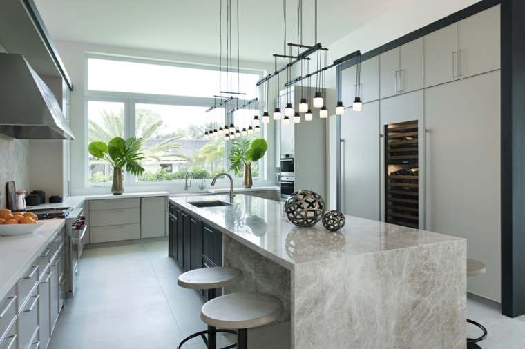 Marble-for interior-island-kitchen-style
