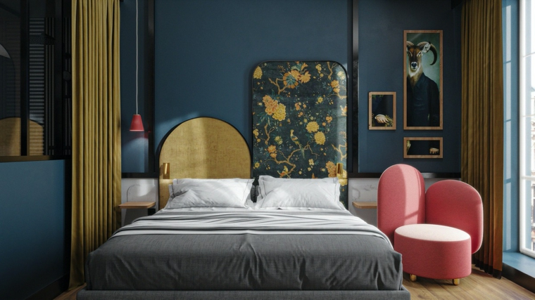 bedroom-design-style-wall-blue