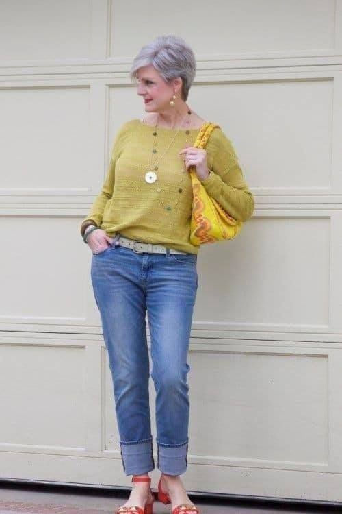 Look casual com sweater e jeans jeans