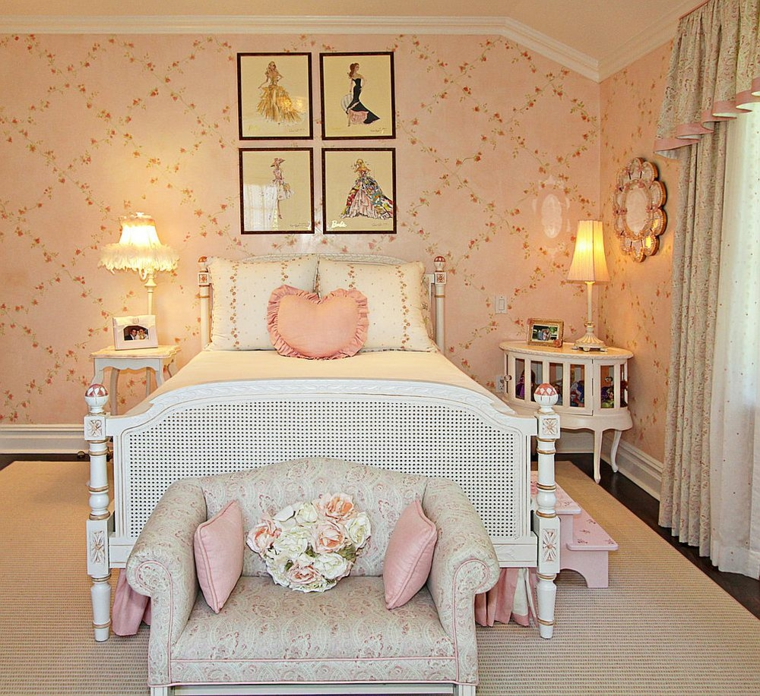 quartos-shabby-chic-bed-wood-white