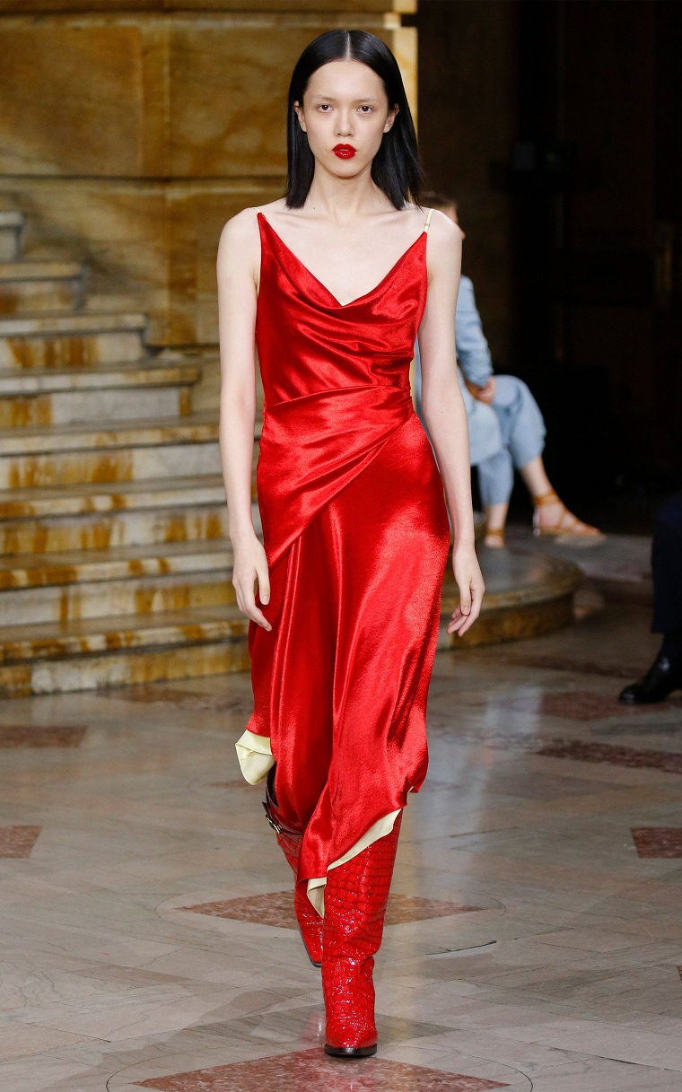 dress-red-satin-ideas