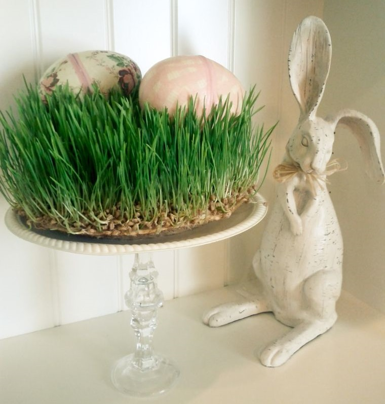 wheatgrass easter decoration
