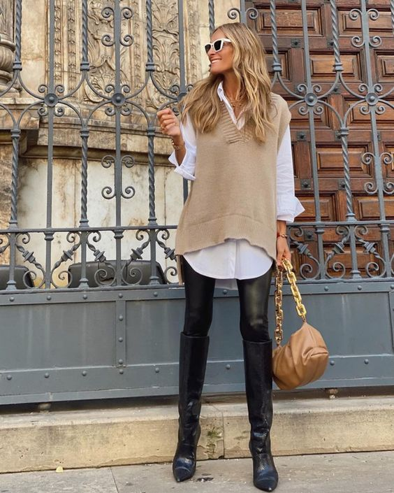 Outfits com coletes shein oversize