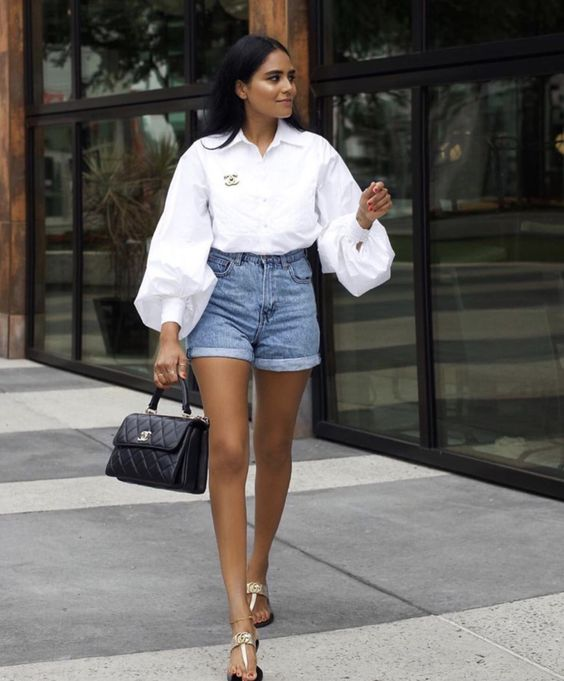 Outfits com shorts jeans